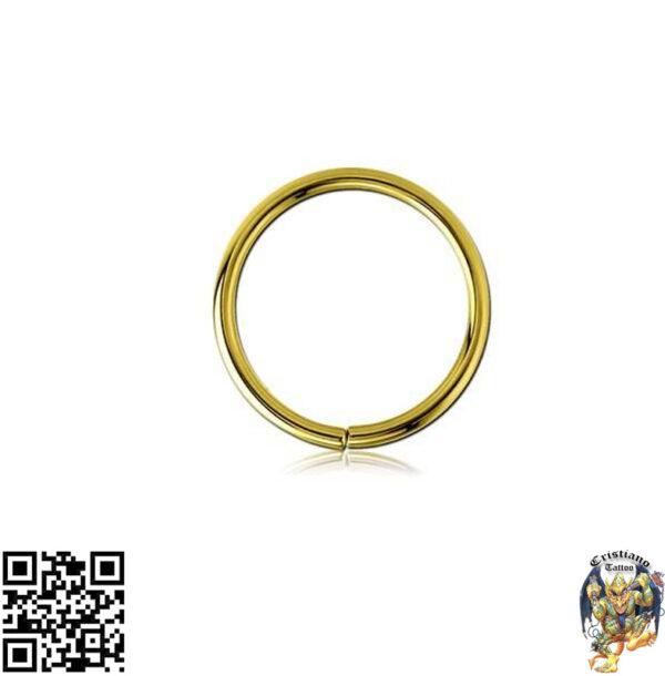 Argola simples ouro 18k