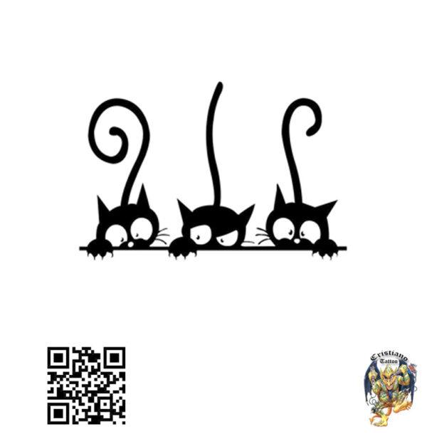 3 gatinhos espiando desenho