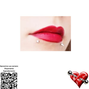 Labret spike - piercing - labio