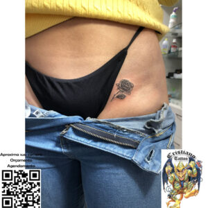 Botão Rosa - Tattoo
