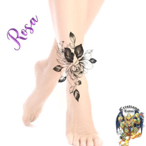 Rosa - Tornozelo - Sombra - Tattoo