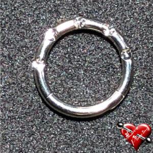 Segmento articulado com pedra zirconia cristal - Piercing - Titânio