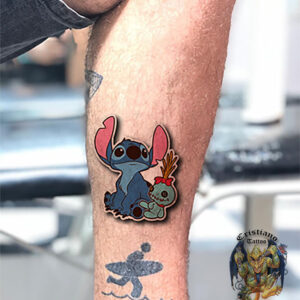 stitch - perna - tattoo - esboço