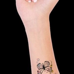 Mini_Borboleta_delicada_flores_lua_gotas_azul_Desenho_tattoo