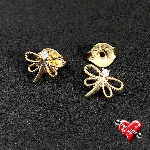 Liberula - Semi joias - Dourada - Brinco