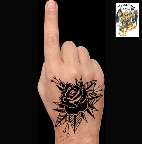 Rosa old school - Desenho - Tattoo