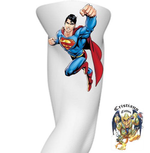 Super Homem - Desenho - Tattoo